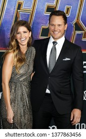 Chris Pratt and Katherine Schwarzenegger at the World premiere of 'Avengers: Endgame' held at the LA Convention Center in Los Angeles, USA on April 22, 2019.