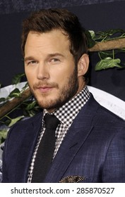 Chris Pratt at the World premiere of 'Jurassic World' held at the Dolby Theatre in Hollywood on June 9, 2015.