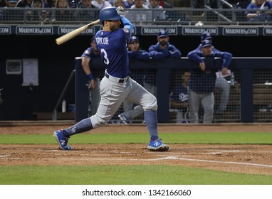 Chris Taylor shortstop for the Los Angeles Dodgers at Peoria Sports Complex in Peoria, Arizona/USA March 14,2019.