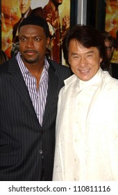 "Chris Tucker and Jackie Chan at the Los Angeles Premiere of ""Rush Hour 3"". Mann's Chinese Theater, Hollywood, CA. 07-30-07"
