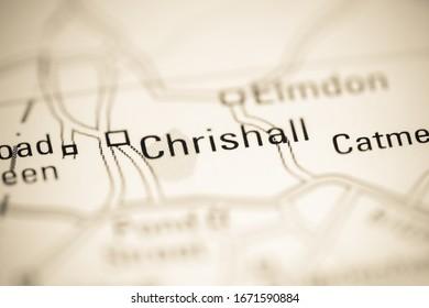 Chrishall. United Kingdom on a geography map