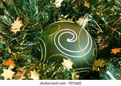 Chrismas ball and garland