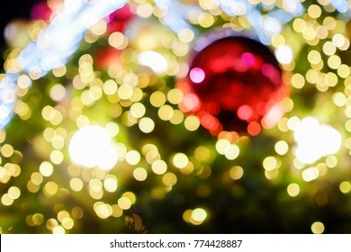 Chrismas tree colorful background bokeh blurred  background in chrismas day
