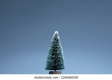 Chrismas tree on blue background