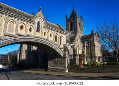 Christ Church Cathedral, Dublin and bridge connecting to the former Synod Hall