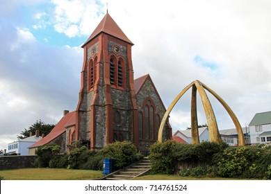 Christ Church Cathedral in Port Stanley, Falkland Islands, Islas Malvinas