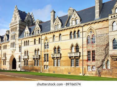 Christ Church College, Oxford City, England bathed in Winter sunshine