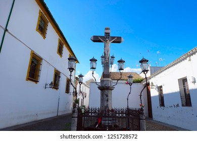 Christ of the Lanterns or Cristo de los Faroles is located on Plaza de Capuchinos in Cordoba city, Andalusia region, southern Spain