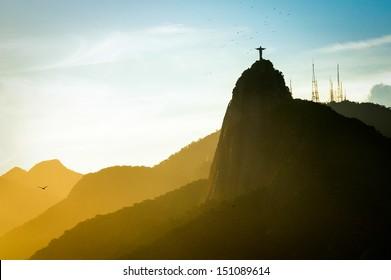 Christ the Redeemer statue on top of Corcovado, Rio de Janeiro, Brazil