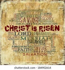 Christ is Risen Easter Religious Background