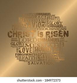 Christ is Risen Gold style background
