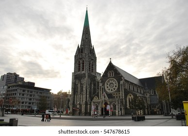 ChristChurch Anglican cathedral in Christchurch, Canterbury, New Zealand