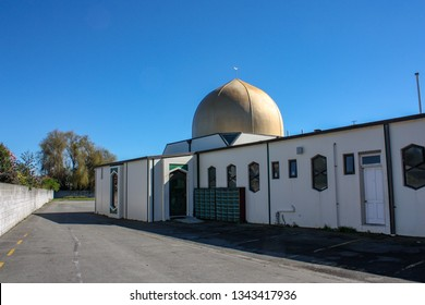 Christchurch, Canterbury, New Zealand, : Masjid Al Noor: the place of the March 15 2019 Christchurch Mosque Shootings