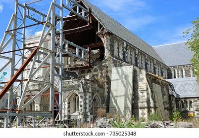 Christchurch Cathedral ruin - New Zealand
