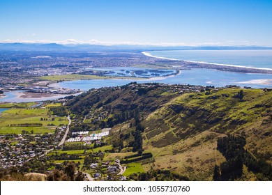 Christchurch City taken from the top of a mountain