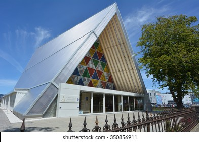 CHRISTCHURCH - DEC 04 2015:Cardboard Cathedral.It's temporary home to ChristChurch Cathedral that damaged in 2011 Christchurch earthquake. It's the only cathedral made of cardboard in the world.