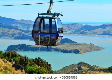 CHRISTCHURCH - DEC 04 2015:Christchurch Gondola.It offers a unique Christchurch sightseeing experience of breathtaking views of the Christchurch cityscape, Canterbury plains and mighty Southern Alps