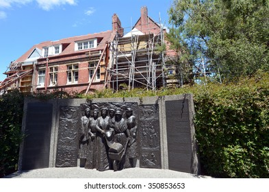 CHRISTCHURCH - DEC 06 2015: Kate Sheppard National Memoria.The 1893 Women's Suffrage Petition led to New Zealand becoming the first self-governing nation where women won the right to vote.