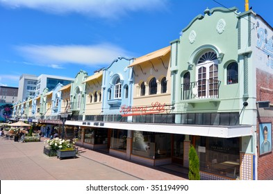 CHRISTCHURCH - DEC 08 2015:New Regent Street. Christchurch's beloved New Regent Street is reclaiming its place as a one of the most popular shopping and visitor destination