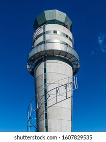 Christchurch, New Zealand - 11 December 2019: Closeup of the Control Tower of Christchurch International Airport