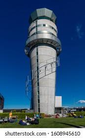 Christchurch, New Zealand - 11 December 2019: The Control Tower of Christchurch International Airport