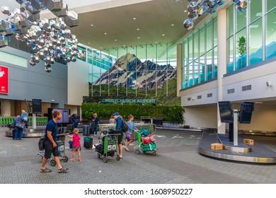 Christchurch, New Zealand - 11 December 2019: Baggage claim of Christchurch International Airport