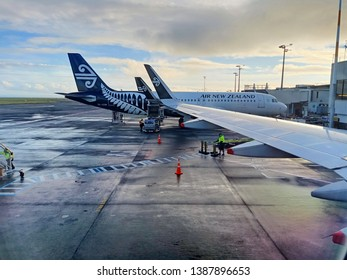 Christchurch, New Zealand - April 28, 2019  :Air New Zealand prepare to fly