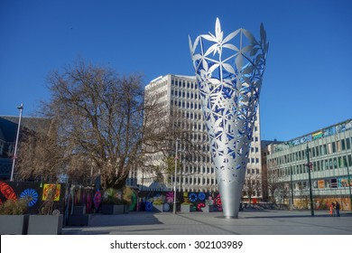 CHRISTCHURCH, NEW ZEALAND - JUNE 10, 2015: View of the city centre