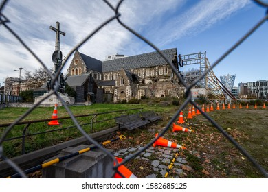 Christchurch, New Zealand, May 17 2018 - Christchurch Cathedral after the 2011 Earthquake