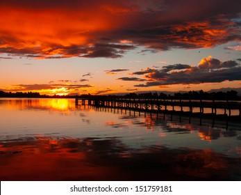 Christchurch New Zealand Sunset
