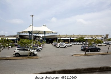 Christchurch Parish, Barbados - April 16, 2017: Grantly Adams International Airport. Named after the first Bajan Prime MInister, the international airport aids in the tourist industry.
