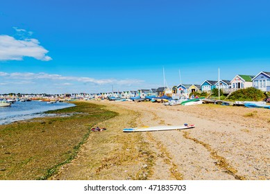 CHRISTCHURCH, UNITED KINGDOM - AUGUST 22: This is Hengistbury head a popular beach destination in Chrischurch where people often go for weekend breaks on August 22, 2016 in Christchurch