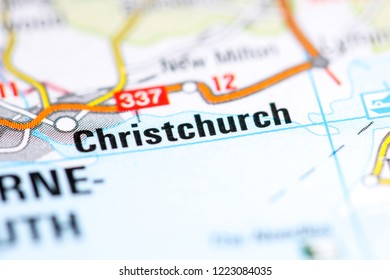 Christchurch. United Kingdom on a map