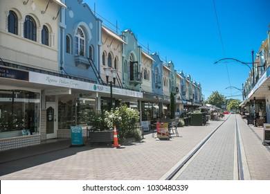 Christchurch/New Zealand - January 30 2018: Christchurch city center