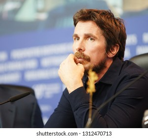 Christian Bale attends the 'Vice' (Vice - Der zweite Mann) press conference during the 69th Berlinale International Film Festival Berlin at Grand Hyatt Hotel on February 11, 2019 in Berlin Germany.