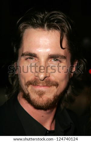 "Christian Bale at the ""Harsh Times"" LA Premiere, Crest Theater, Westwood, California. November 5, 2006."