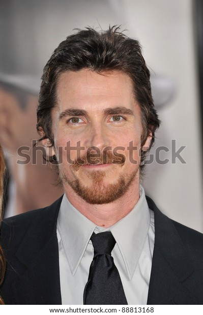 "Christian Bale at the Los Angeles premiere of his new movie ""Public Enemies"" at Mann Village Theatre, Westwood. June 23, 2009  Los Angeles, CA Picture: Paul Smith / Featureflash"