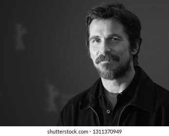 Christian Bale poses at the 'Vice' (Vice - Der zweite Mann) photocall during the 69th Berlinale International Film Festival Berlin at Grand Hyatt Hotel on February 11, 2019 in Berlin, Germany.