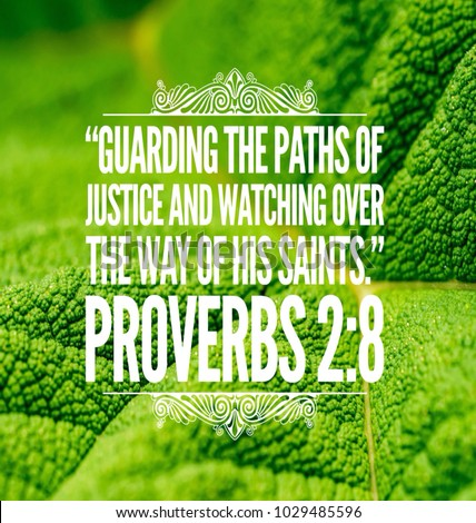 Christian Bible Verse Proverbs Leaf Background