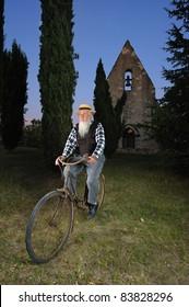 a christian bike going home