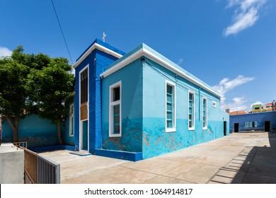 Christian church building in Santa Maria city, Sal, Cape Verde, Cabo Verde