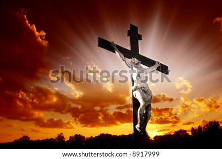 Christian Cross Jesus Christ Beautiful Sunrise Stock Photo Edit Now