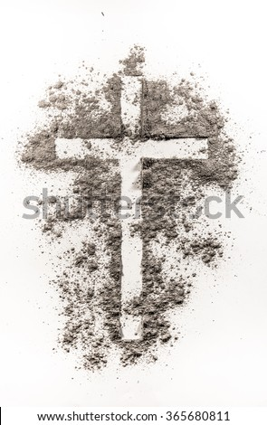 Christian Cross Symbol Made Ash On Stock Photo Edit Now 365680811