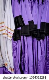 Christian dress for baptism, hanging