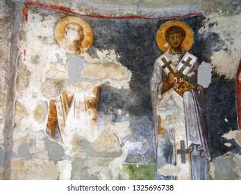 Christian Fresco  in church of St Nicholas in Mira, Turkey