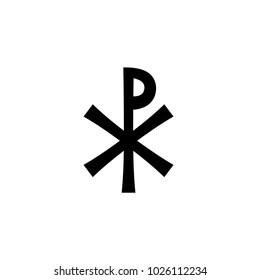 Christian monogram of Jesus Christ (Christogram), Illustration