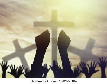 Christian prayers raising