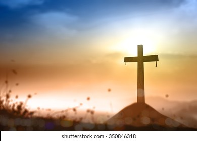 Christian religion background concept: The cross symbol for Jesus Christ, easter, evangelism and holy spirit.