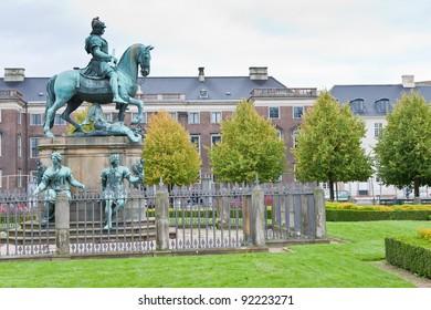 Christian V statue in Kongens Nytorv (King's New Square) in Copenhagen, Denmark