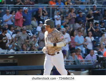 Christian Villanueva infielder for the San Diego Padres at Petco Park in San Diego California USA September 23,2017.